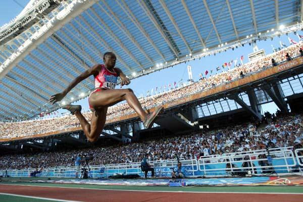 Françoise Mbango of Cameroon in the women's Triple Jump (Getty Images)