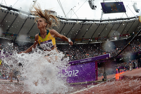 Genevieve LaCaze competes at the London 2012 Olympics ()