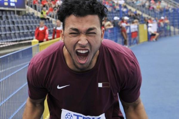 Discus champion Mohamed Ibrahim Moaaz at the IAAF World U20 Championships Bydgoszcz 2016 (Getty Images)