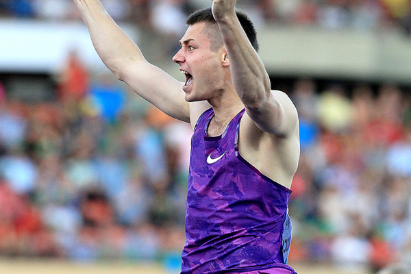 Pole vault winner Pawel Wojciechowski at the IAAF Diamond League meeting in Lausanne (Victah Sailer)
