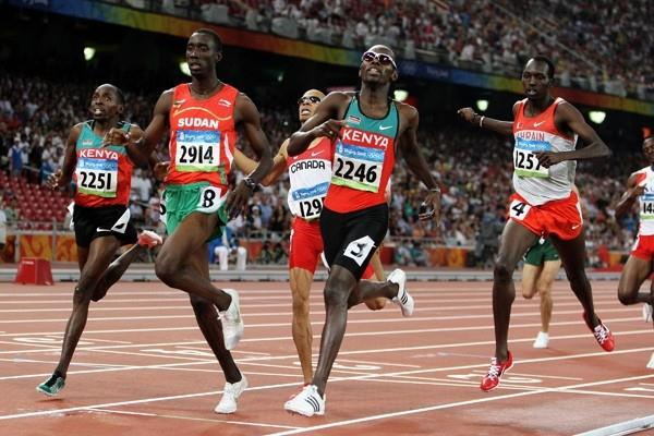 Wilfred Bungei of Kenya wins the 800m in 1:44.65 (Getty Images)
