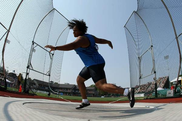U.S. discus throw champion Aretha Thurmond (Getty Images)