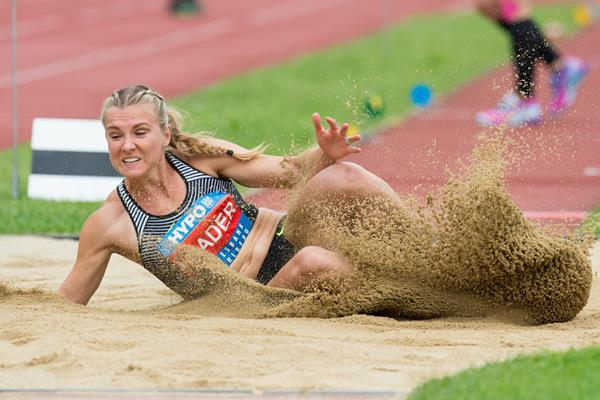 Brianne Theisen-Eaton at the 2016 Hypo Meeting in Gotzis (Getty Images)