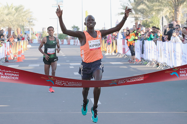 Stephen Kiprop wins the Ras Al Khaimah Half Marathon (Victah Sailer / organisers)