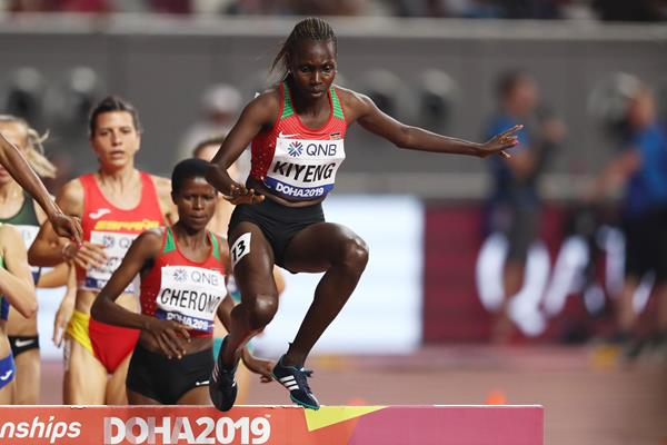 Hyvin Kiyeng at the IAAF World Athletics Championships Doha 2019 (Getty Images)