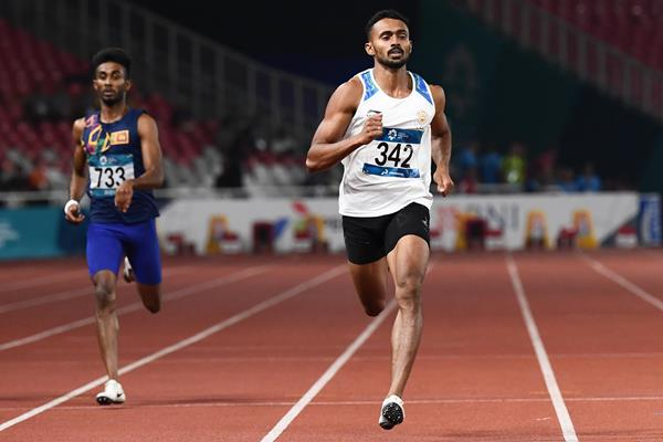 Indian sprinter Muhammed Anas Yahiya at the 2018 Asian Games (AFP/Getty Images)