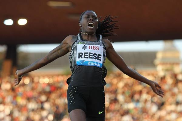 Brittney Reese in the long jump at the IAAF Diamond League meeting in Zurich (Jean-Pierre Durand)