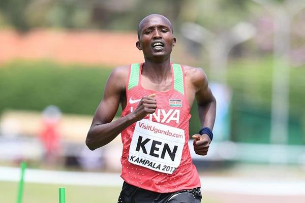 Bernard Koros in the mixed relay at the IAAF World Cross Country Championships Kampala 2017 (Jiro Mochizuki)