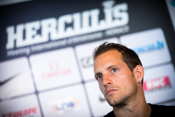 Renaud Lavillenie at the press conference for the IAAF Diamond League meeting in Monaco (Philippe Fitte)