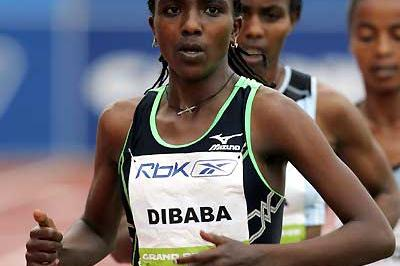 Tirunesh Dibaba in the 5000m in New York (Victah Sailer)
