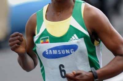 Ethiopian Firehiwot Dado wins the Casablanca women's 10km - 2008 (Sean Wallace-Jones)