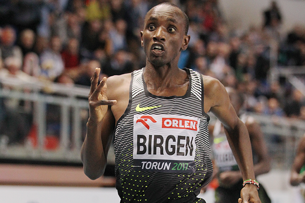 Bethwell Birgen wins the 1500m at the IAAF World Indoor Tour meeting in Torun (Jean-Pierre Durand)