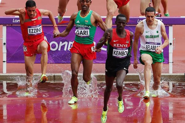 Ezekiel Kemboi in the 3000m steeplechase at the London 2012 Olympic Games (Getty Images)