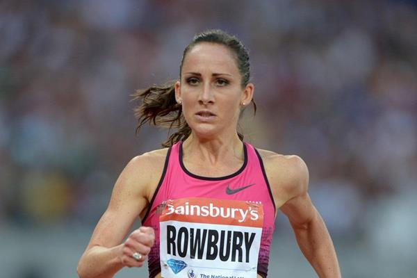 Shannon Rowbury at the 2013 IAAF Diamond League in London (Kirby Lee)