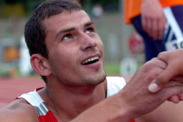 Aleksey Drozdov of Russia after winning the European U23 Decathlon (Hasse Sjögren)
