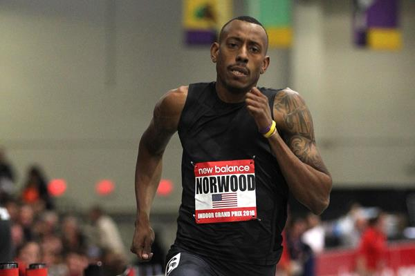 Vernon Norwood at the 2016 New Balance Indoor Grand Prix meeting in Boston (An)