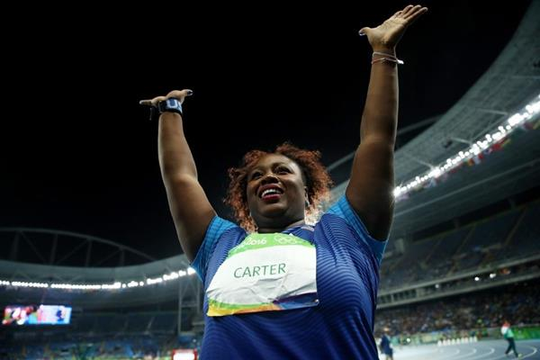 Shot put winner Michelle Carter at the Rio 2016 Olympic Games (Getty Images)