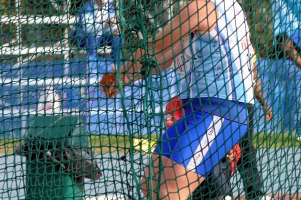 South American Hammer Throw record holder Jennifer Dahlgren of Argentina (Eduardo Biscayart)