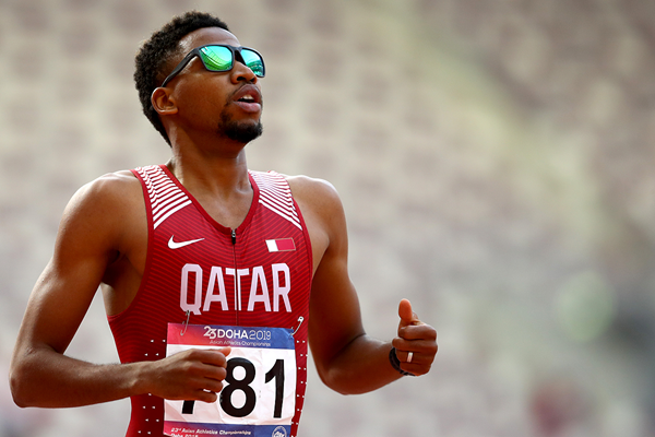 Abderrahman Samba after his Asian Championships victory in Doha (Getty Images)
