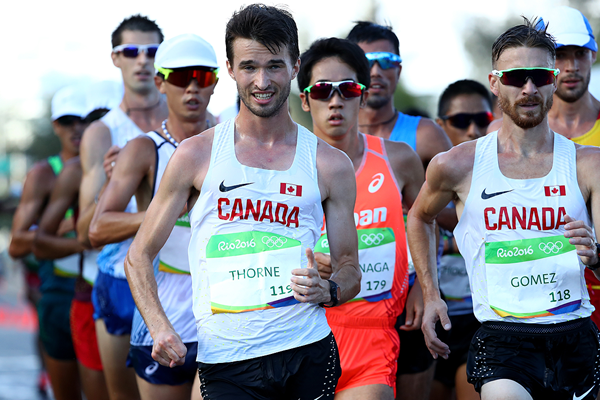 Ben Thorne in the 20km race walk at the Rio 2016 Olympic Games (Getty Images)