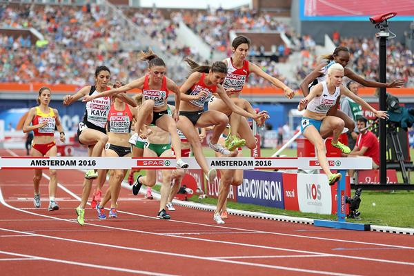 Gesa-Felicitas Krause en route to the European title in the 3000m steeplechase (Getty Images)