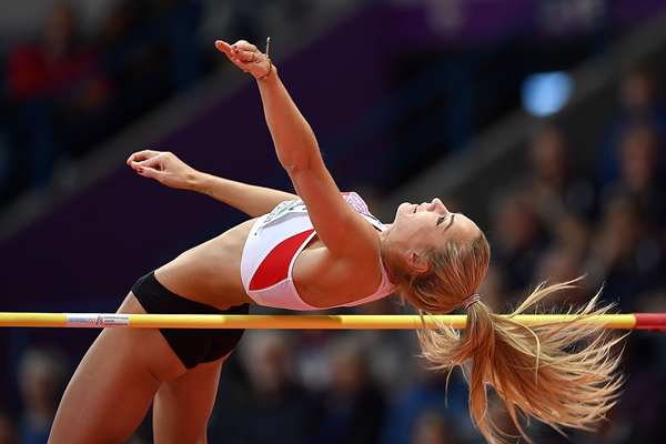 Austrian heptathlete Ivona Dadic in the high jump (Getty Images)
