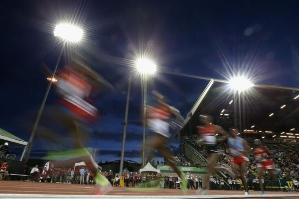 The men's 10,000m at the 2014 IAAF World Junior Championships in Eugene (Getty Images)