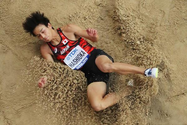 Yuki Hashioka of Japan in long jump qualifying at the IAAF World Athletics Championships Doha 2019 (Getty Images)