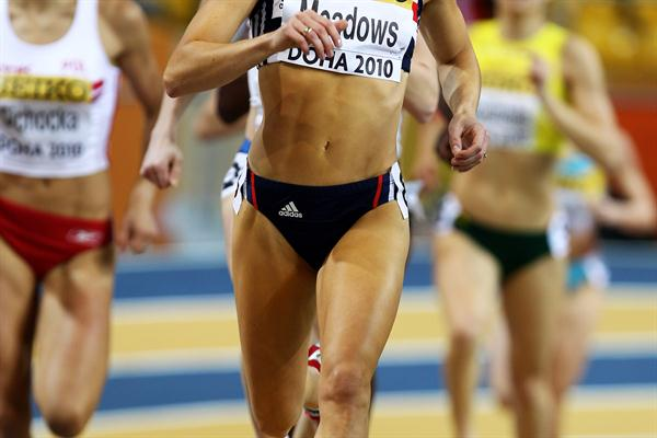 World outdoor bronze medallist Jennifer Meadows of Great Britain competes in the 800m heats in Doha (Getty Images)
