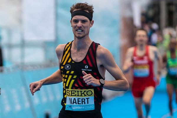 Koen Naert in action at the World Athletics Half Marathon Championships Gdynia 2020 (Dan Vernon)