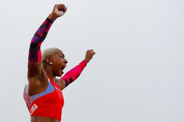 Yarisley Silva celebrates her pole vault victory at the Pan-American Games (Getty Images)