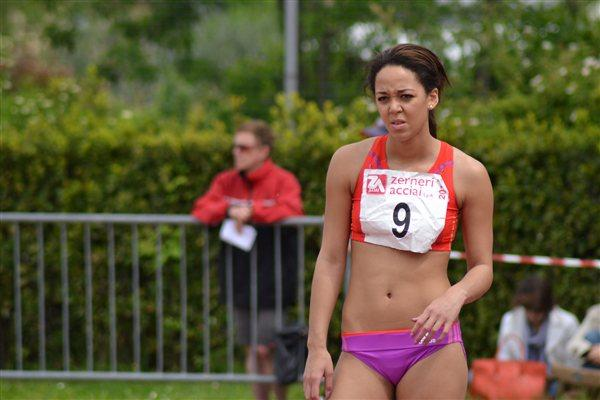 Katarina Johnson Thompson in the 2012 Multistars in Desenzano del Garda (Daniele Morandi)