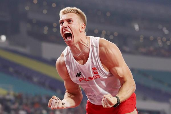 Pole vault bronze medallist Piotr Lisek at the IAAF World Athletics Championships Doha 2019 (Getty Images)