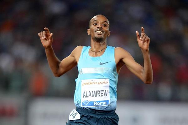Yenew Alamirew winning at the 2013 IAAF Diamond League in Rome (Giancarlo Colombo)