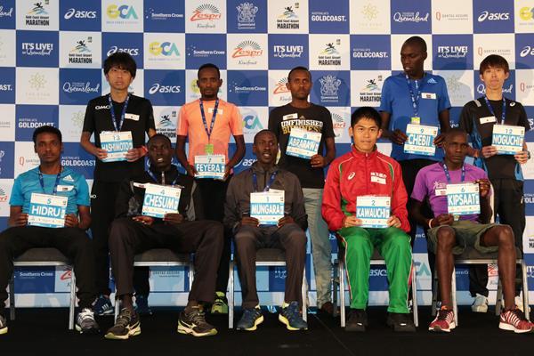 2017 Gold Coast Marathon men's elite field (organisers)