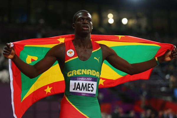 Kirani James of Grenada won the gold medal in the Men's 400m final on Day 10 of the London 2012 Olympic Games at the Olympic Stadium on August 6, 2012 (Getty Images)
