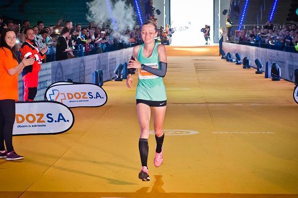 Agnieszka Mierzejewska at the 2016 Lodz Marathon (sportografia.pl / organisers)