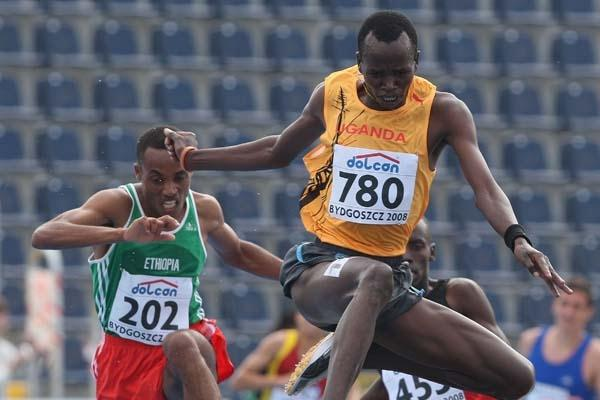 Benjamin Kiplagat of Uganda during the Men's 3000m Steeplechase heats (Getty Images)