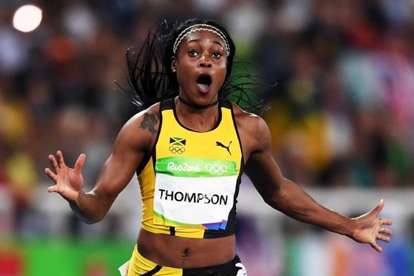 Elaine Thompson wins the 100m at the Rio 2016 Olympic Games (Getty Images)