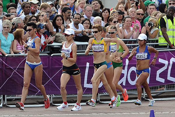 Claire Tallent in the 20km race walk at the London 2012 Olympic Games (Getty Images)