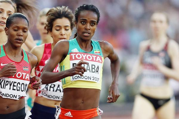 Genzebe Dibaba at the IAAF World Championships London 2017 (Getty Images)