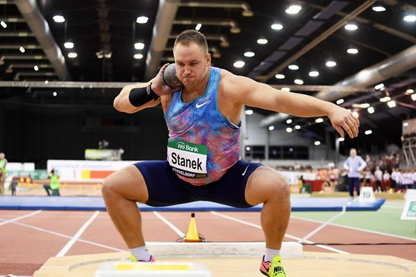 Tomas Stanek competes in the shot put at the PSD Bank Meeting Düsseldorf  (Gladys Chai von der Laage)