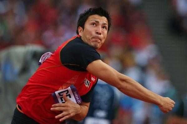 Roderick Genki Dean of Japan competes during the Men's Javelin Throw Final  of the London 2012 Olympic Games at Olympic Stadium on August 11, 2012 (Getty Images)