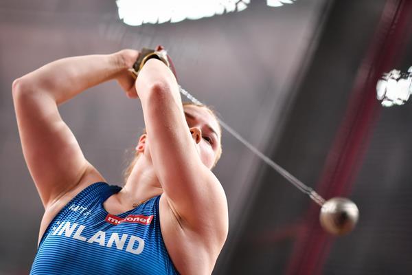 Finnish hammer thrower Krista Tervo (AFP / Getty Images)