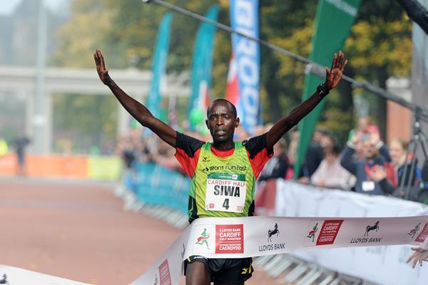 2015 Cardiff Half Marathon winner Ben Siwa (Mark Shearman)