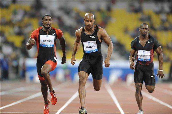 Men's 100m at the 2012 Samsung Diamond League in Doha - Gatlin won (Jiro Mochizuki)