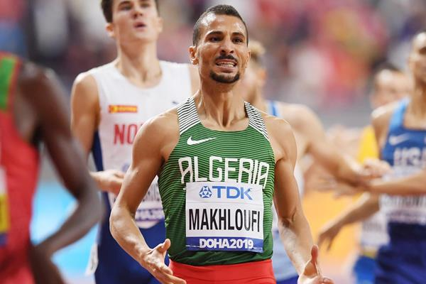 Taoufik Makhloufi in the 1500m at the IAAF World Athletics Championships Doha 2019 (Getty Images)