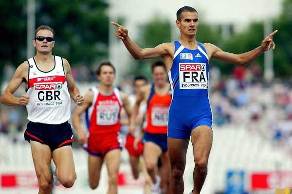 Mehdi Baala of France wins the men's 1500 metres - 2004 European Cup (Getty Images)