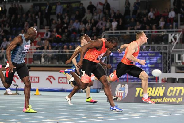 Jan Volko edged Andrew Fisher in the Torun 60m (Jean Pierre Durand)