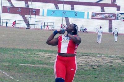 Yumileidi Cumbá at the 2006 Cuban Championships (Javier Clavelo Robinson)